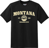 Montana State Vintage Retro Hometown America Gift T Shirt New Graphic Tee