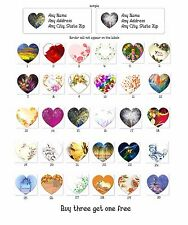 Personalized Return Address Hearts labels Hearts Buy 3 Get 1 free{ht1}