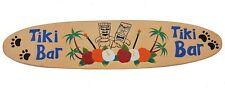 Tiki Holzschild wie Surfboard 100cm Tiki Bar Schild aus Holz Hawaii Style