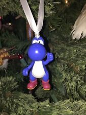 Blue Yoshi Custom Christmas Ornament Nintendo Donkey Kong Super Mario Bros DS