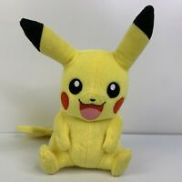 """Pokemon Pikachu 9"""" Stuffed Plush Toy Collector Series Tomy Happy Smiling CLEAN"""