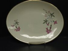Pink Thistle Unmarked 13 Inch Oval Platter