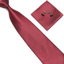 Krawatte Streifen Set Einstecktuch Manschettenknöpfe Herren Breit Hochzeit