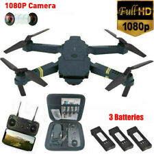 Drone X Pro WIFI FPV 1080P HD Camera Folding Quadcopter With 3 Batteries + Bag