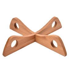 1Set Dish Rack Tableware Tray Wooden Cross Combination Pot Rack Portable To