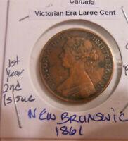 Canada provinces New Brunswick 1 Cent 1861 Victoria Token