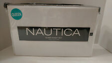 New! NAUTICA Soft 100% Cotton Queen Size Sheet Set SOLID WHITE