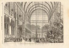 1861 ANTIQUE PRINT- OPENING OF HORTICULTURAL SOCIETY'S GARDENS, WINTER GARDEN