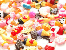 BULK BUY! 20pcs Mixed Sweet Treat Dripping Ice Cream Cones Flatback Decoden Kit