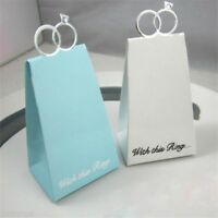 10/50pcs Finger Ring Laser Cut Cake Candy Gift Boxes Party Wedding Favor Boxes