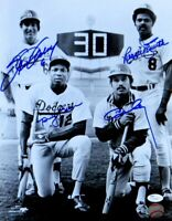 Garvey Baker Cey Smith Signed Autographed 11X14 Photo Dodgers 30 HR Club JSA