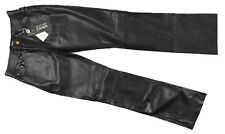 New Versace Jeans Couture Womens Vintage 90's Leather Pants!  29  Black