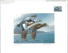 ALASKA #2 1986  STATE DUCK STAMP PRINT MEDALLION ED  STELLERS EIDERS. List $395