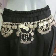 Vintage Belly Dance Silver Tone Fake Coin Hip Belt - Tribal - Practice - Fun