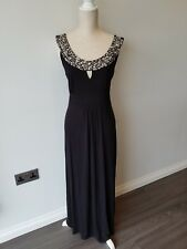 Roman Originals Dress. Size 14. Jewelled Long Black Evening Gown/Party/Formal