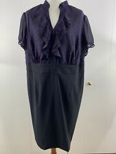 Alyx Women's Dress Polka Dot Top Black & Purple Plus Size 22W