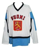 Any Name Number Size Finland Custom Hockey Jersey White