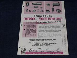 Original 1951 Dealership Brochure ~ Studebaker Generator and Starter Motor Parts