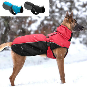 Medium Large Dog Coats Waterproof with Harness Rottweiler Clothes Winter Jackets
