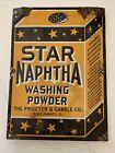 ORIGINAL STAR NAPHTHA WASHING POWDER VINTAGE PORCELAIN SIGN 1920s Procter Gamble