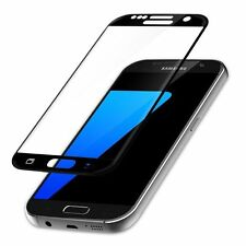 Genuine Tempered Glass Full Screen Protector Black EDGE for Samsung Galaxy S7