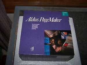 Aldus PageMaker 4.0 for vintage Macintosh -  on 3.5 800k disks