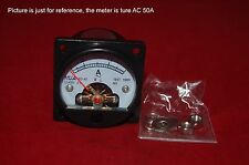 AC 0-50A Analog Ammeter Panel AMP Current Meter SO45 directly Connect