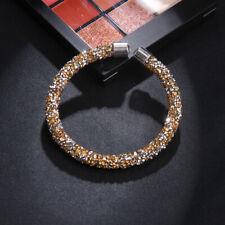 Gold Crystal Dust Encrusted Bracelet / Bangle Made With Swarovski Elements
