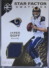 2016 Panini Limited Star Factor Swatches JARED GOFF  Patch #/125 Rams
