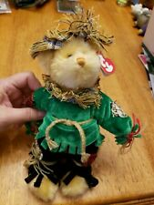 Ty Beanie Babies Alfalfa Scarecrow Let Them Eat Crow Plush Bear