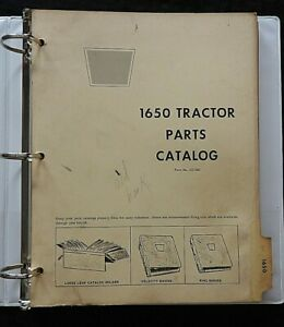 GENUINE 1967-1968 OLIVER 1650 TRACTOR PARTS CATALOG MANUAL VERY GOOD SHAPE