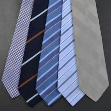 LOT OF 5 - PAUL STUART Colorful Classic Striped Silk Mens Luxury Tie Ties