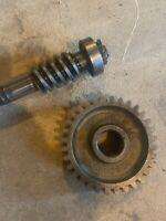 Farmall 300 350 Row Crop Steering Worm Gear Shaft & Matching Gear