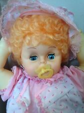 "Rare Vintage Baby Susanna Doll-vinyl plastic-TM Toys-strawberry blonde-22""-w/box"