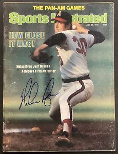 Nolan Ryan Signed Sports Illustrated Magazine HOF Autograph NO LABEL 7/23/79 PSA