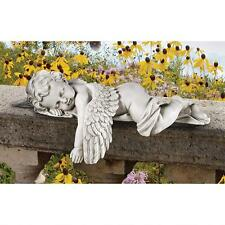 SLEEPING ANGEL CHERUB BABY STATUE SCULPTURE Indoor Outdoor Garden Shelf Decor