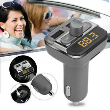 Bluetooth Car Kit Wireless FM Transmitter MP3 Player SD Dual USB Charger w/ A2DP