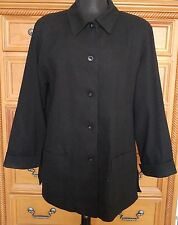 Nordstrom Black Jacket Coat - Size Large - Fully Lined Cuffed Sleeve