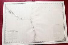 1826 - BRAZIL -NAUTICAL CHART- PERNAMBUCO - PARAÍBA - RIO GRANDE NORTE - CEARÁ
