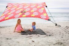 Neso Tents Beach Tent with Sand Anchor, Portable Canopy Sun Shelter (Pineapples)
