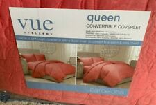 VUE by Ellery Barcelona Queen Convertible Coverlet Duvet Coral