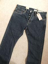 AllSaints Indigo, Dark wash Cotton Regular Jeans for Men