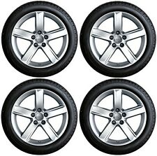 "SET OF FOUR GENUINE AUDI A4 B8 17"" ALLOY WHEELS + DUNLOP 225/50 WINTER TYRES"
