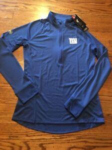 New York Giants NFL Women's Under Armour Combine 1/2 Zip Pullover Size Large