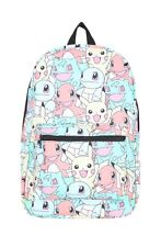 Pokemon Go Pastel Stacked Characters Backpack School Book Bag