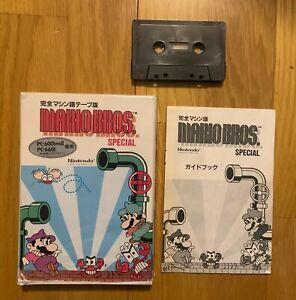 Mario Bros Special PC-6001 mkII PC-6601 Nintendo Hudson Soft Very Rare A