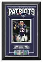 Tom Brady Facsimile Signed New England Patriot Super Bowl Archival Etched Glass™