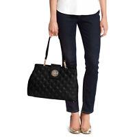 NWT Kate Spade Astor Court Elena Shoulder Bag Black Silver # WKRU3574 $395