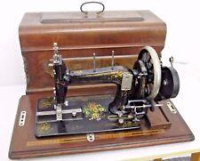Antique Seidel & Naumann No 339 Hand Crank Sewing Machine 20's Case & Manual
