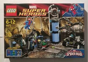 Lego Marvel Super Heroes Spider Man's Doc Ock Ambush 6873 Retired MISB Iron Fist